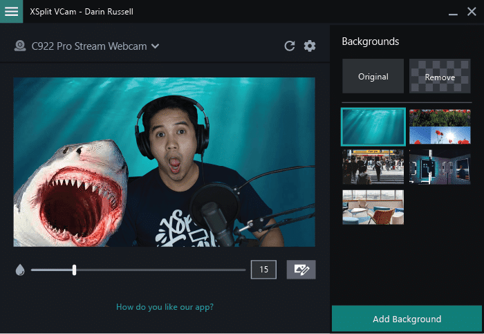 Someone underwater has added a shark using VCams custom watermark feature!